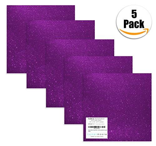 (Turner Moore Edition, Purple Glitter Vinyl Adhesive - 12