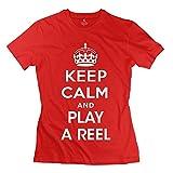 Serlina Women's Play Reel Cotton T-Shirt Red XL