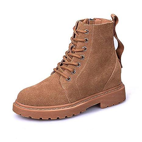 Shukun Botines Retro Martin Boots Retro Martin Boots Mujer Primavera Personalidad Estudiantes High Help Flat: Amazon.es: Deportes y aire libre