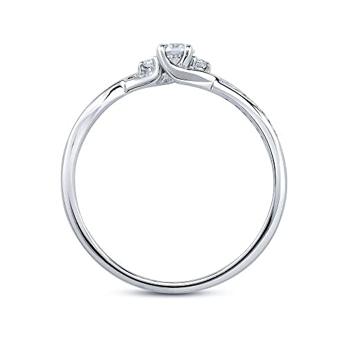 Silvego Verlobungsring Mit Swarovski Zirconia 925 Sterling Silber