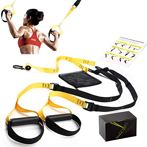 KODAMO Bodyweight Fitness Resistance Trainer Kit,Multiple Anchoring Solutions with Easy Setup for Home,Gym & Outdoor Workouts