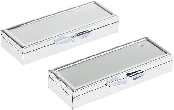 dailymall 2x Organizador de Pastillas de Metal Caja de Almacenamiento de Medicamentos para Viajes/Escuela - Blanco 6: Amazon.es: Salud y cuidado personal