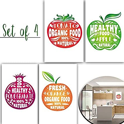 Amazon.com: Vegan and Healthy Posters Fruit Designs with ...