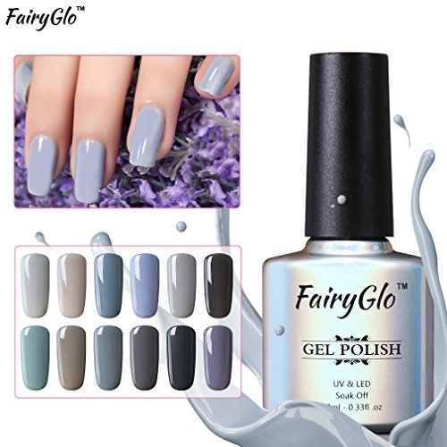 (12pcs Grey Gel Nail Polish UV LED Soak Off Lacquer Nail Art Varnish Beauty Decor Gift Set by)