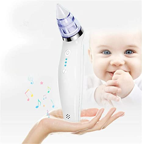 xcvbw Aspirador nasal para bebés Limpiador de nariz eléctrico ...