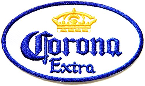 Corona Extra Beer Cap Logo Jacket Patch Sew Iron On Embroidered