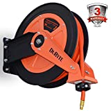 DuRyte Pro Dual Arm Retractable Air Hose Reel with 3/8-Inch by 50-Feet Rubber Air Hose, Max. 300 PSI