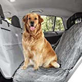 Classic N Chic Pet Travel Kit Premium Quality Waterproof Car Seat Cover for Dogs and Cats with Seatbelt Belt Extender Leash Deluxe Paw Print Blanket and Bonus First Aid Kit