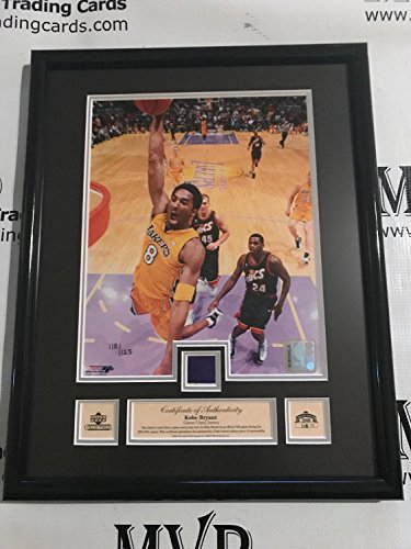 2000-2001 Upper Deck Authentic KOBE BRYANT Limited Edition Game Used Jersey 12x15 Framed Plaque #'d 125 - 2000 2001 Upper Deck