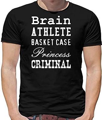 19d642b9303 Brain Athlete Basket Case Princess Criminal - Mens T-Shirt - 10 Colours   Amazon.co.uk  Clothing