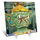 Cheap 3dRose dc_75581_1 Art Work Sculpture of Mask in Bangkok Thailand-AS36 Bba0061-Bill Bachmann-Desk Clock, 6 by 6-Inch