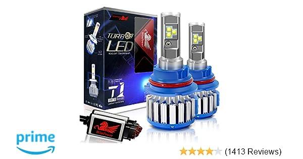 Amazon.com: Win Power 9007 LED Headlight Bulb Dual High Low Beam Conversion Kit CREE 70W 7200LM 6000K Cool White-2 Yr Warranty: Automotive