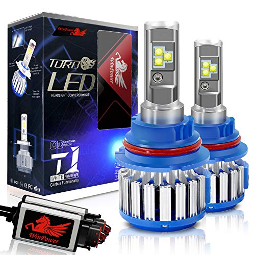 Win Power 9007 LED Headlight Bulb Dual High Low Beam Conversion Kit CREE 70W 7200LM 6000K Cool White-2 Yr Warranty
