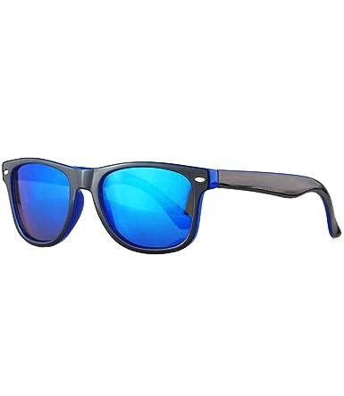 Miuno® Kinder Sonnenbrille Polarisiert Polarized Wayfare für Jungen und Mädchen Etui 6833a (Schwarz/Blau) CWpYJ