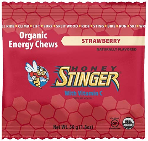 Honey Stinger Organic Energy (Single) Gluten Free Chews (Strawberry)