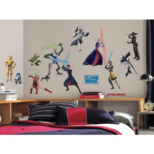 (RoomMates RMK1382SCS Star Wars: the Clone Wars Glow in the Dark Wall Decals, Pack of 28)