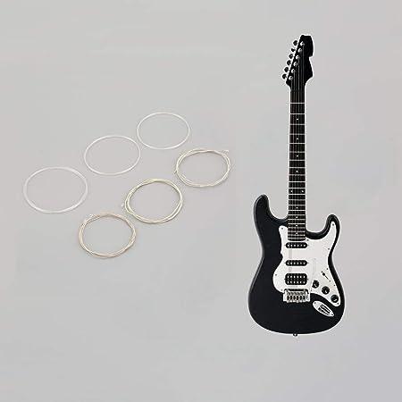 Juego de Cuerdas Plateadas de Nylon Claro y Plateado para Guitarra ...