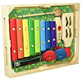 Melissa & Doug Band-in-a-Box Hum! Jangle! Shake! - 7-Piece Musical Instrument Set