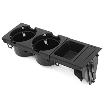 Amazon.es: Consola central para bebidas / portavasos + caja de monedas para BMW Serie E46 3 (Color: negro)