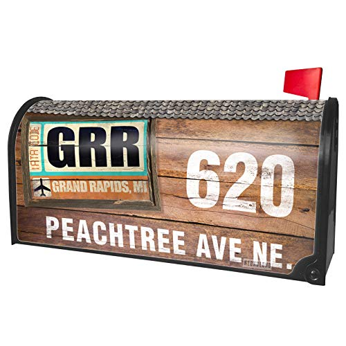 NEONBLOND Custom Mailbox Cover Airportcode GRR Grand Rapids, MI]()
