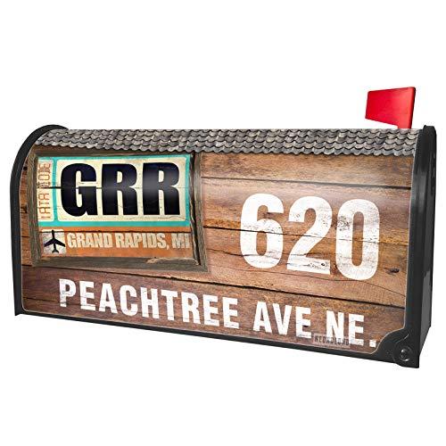 NEONBLOND Custom Mailbox Cover Airportcode GRR Grand Rapids, MI -