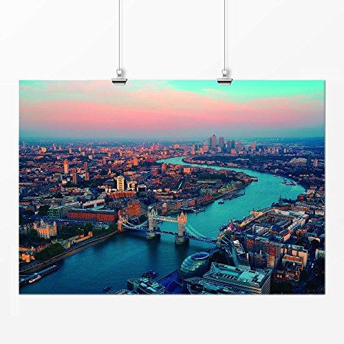 Pôster - Cidade Londres colorido 29x42cm
