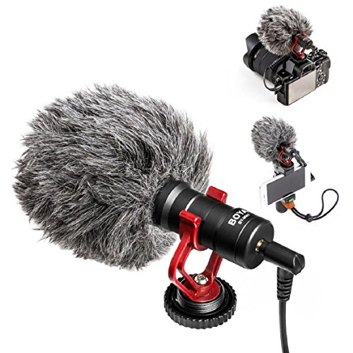 Fdsd BOYA BY-MM1 Compact On Camera Video Youtube Vlogging Microphone Recording Micro (Black)