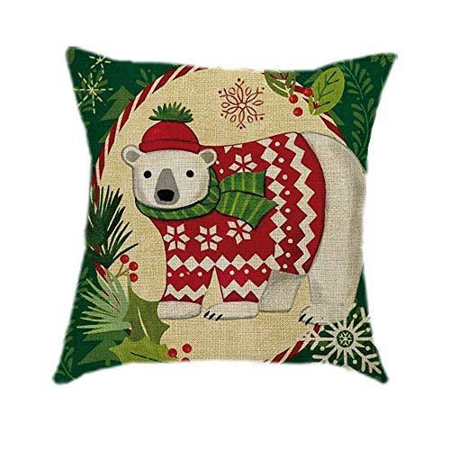 Dressin Christmas Printing Sofa Bed Home Decor Pillow Case,Casual Deer Cover 45X45 cm Pillow Case -