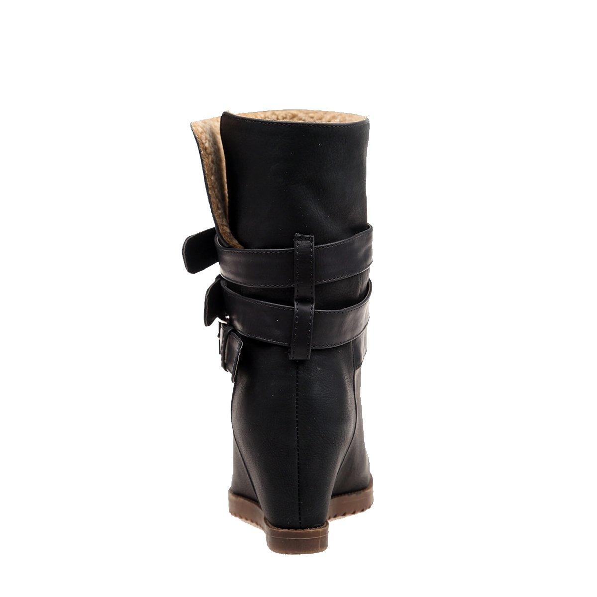 Alexis Leroy - Botines con Tres Hebillas para Mujer: Amazon.es: Zapatos y complementos