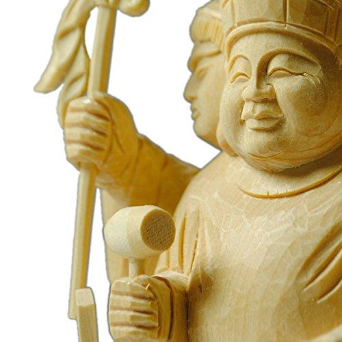 仏縁堂ブランド:仏像【香る檜(ひのき)三面大黒天3.5寸】出世開運の神様 B00TBYIVEI