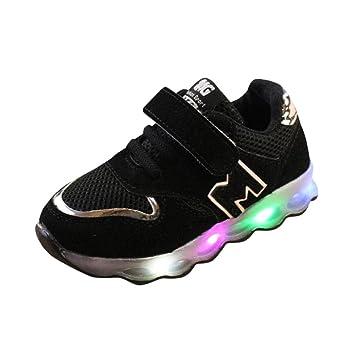 zapatos bebe niño, Sannysis zapatos tacon niña vestir casual Zapatillas de Colores de Luces Transpirables zapatos niña invierno zapatos deportivos niñas LED ...