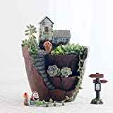 1Pc/Set Resin Flower Pot for Succulent Plants Flowerpot Micro-landscape Pot Garden Decoration Saksi Planter