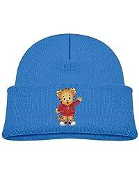 Child Daniel Tiger's Neighborhood Boys Girls Knitted Beanie Cap Skull Hat Black