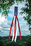 Embroidered Stars American Flag Wind Socks 60″ Show United State Patriotic Support USA Wind Socks Weatherproof Heavy Duty Fabric Polyester For Sale