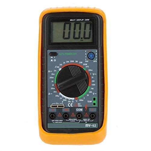 - Handheld DMM Digital Multimeter Ammeter Voltmeter Ohmmeter w/ Capacitance & hFE Test Multimetro Multitester MY-61
