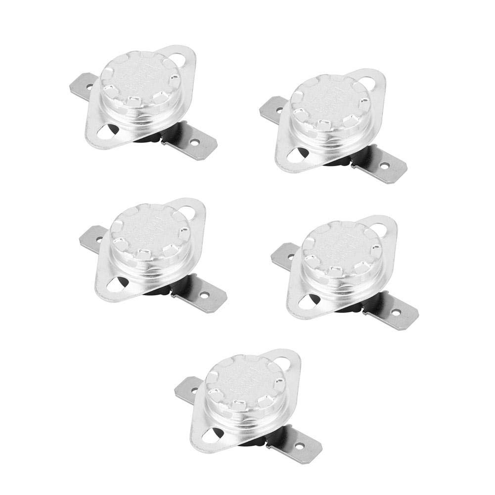 130℃ KSD301 Thermostat Temperature Control Switch,250V 15A Normal Closed Temperature Control Switch 5 Pcs Thermostat Switch