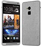 Skinomi TechSkin - HTC One Max Screen Protector + Brushed Aluminum Full Body Skin Protector / Front & Back Premium HD Clear Film / Ultra High Definition Invisible and Anti Bubble Crystal Shield