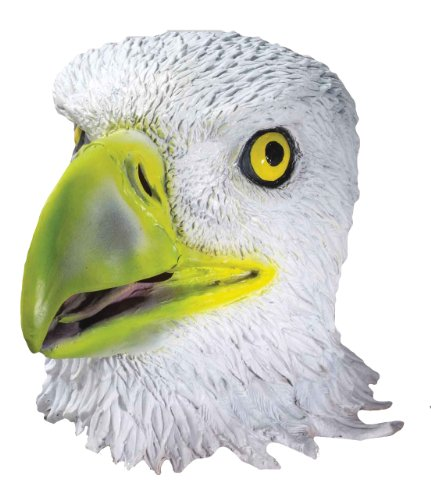 Forum Novelties Mens Deluxe Adult Latex Eagle Mask, Multi Colored, One Size