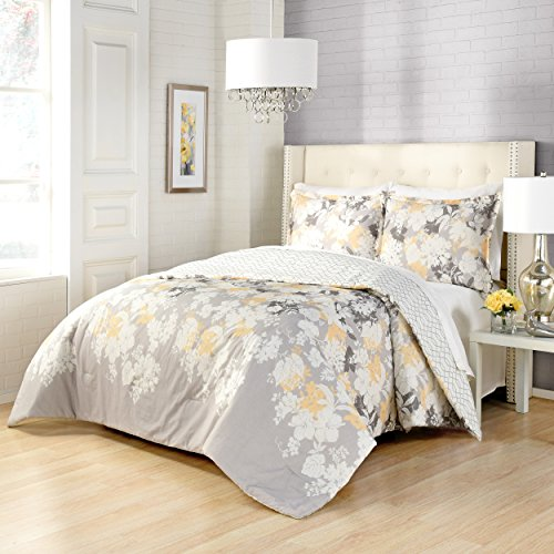 - Marble Hill Garden Party Reversible Comforter Set, Queen, Multi