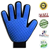 Pet Grooming Glove - Deshedding Brush - Fur Remover - Pet Grooming Brush - Pet Hair Removal Tool - Cat Grooming Glove - Dog Cat Groomer - Pet Deshedding Tool