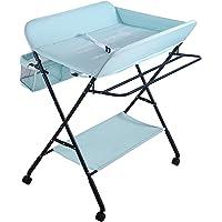 Sarah Commode Commode, multifunctionele massage tafel met opslag, Diaper Station Inklapbare Baby wieg (Blauw)