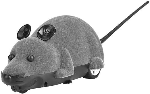 Raton Gato Ratones Electrónicos de Juguete Peludo Gatos Lindos Animal Doméstico Ratón Catcher Animales Juguetes Regalo Divertido Novedad de Rata con Control Remoto(Gris): Amazon.es: Productos para mascotas