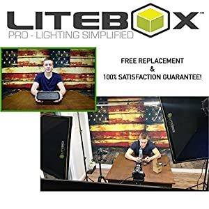 "LITEBOX | Softbox Lighting Kit for Studio Photography & Video Lighting (YouTube etc.) - Easy Setup 26"" Octagon Soft Box (Bulbs, Stands, Diffusers & Travel Bag Included!)"
