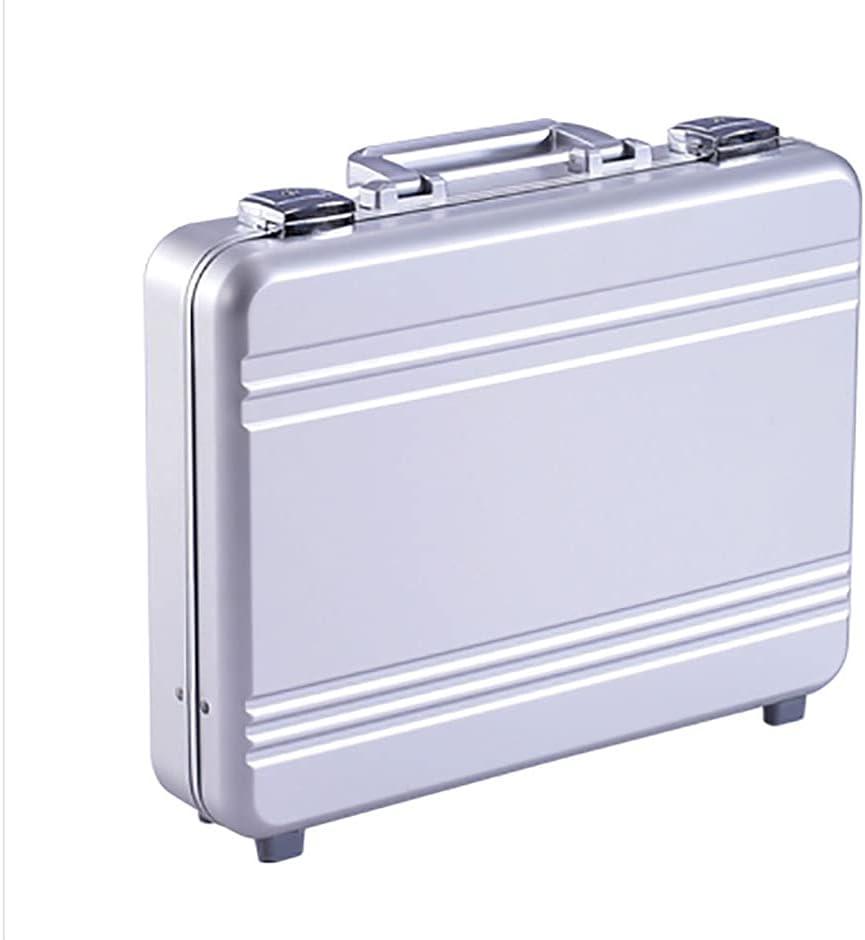 Urecimy Maleta de lujo de aluminio del ordenador portátil Maletín Metal Negocios Caja de herramientas
