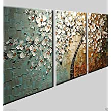 stretched and framed hand-painted promotion free shpping framed on the back oil wall art Flowers knife painting home decoration abstract Landscape oil painting on canvas 16x20inch(40x50cm)