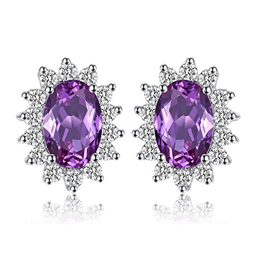 - Jewelrypalace Oval 1.5ct Princess Diana William Kate Middleton's Created Alexandrite Sapphire Stud Earrings 925 Sterling Silver