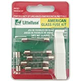 Littelfuse 00940367ZP American Emergency Glass Fuse Kit with 1 Puller, (Pack of 6 Fuses)