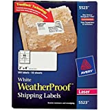 "Avery Weatherproof Laser Shipping Labels, 2"" x 4"", 500/Pack (5523)"