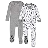 HonestBaby 2-Pack Organic Cotton Snug-Fit Footed