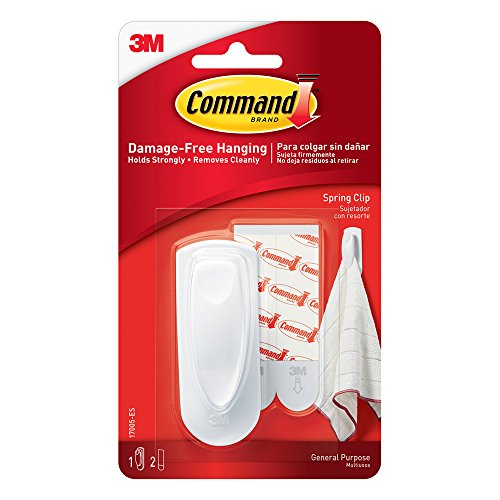 Command Spring Clip, 1-Clip (17005-ES), White
